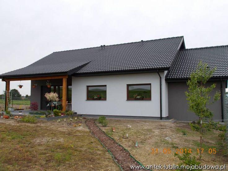 Blog MojaBudowa.pl Dom ANTEK II WERSJA B Z POJEDYNCZYM GARAŻEM buduje antek-lublin - internetowy dziennik budowy, katalog firm budowlanych