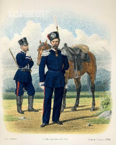 Донское казачье войско. Урядник (походная форма), генерал (обыкновенная форма). 17 сентября 1869 г.