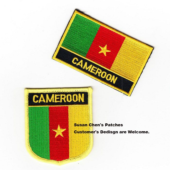 Cameroon Flag patches embroidered flag patches national flag patches Free Shipping #Affiliate