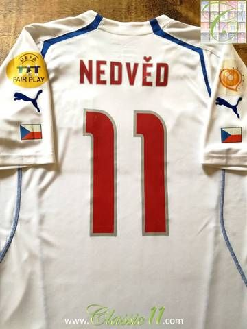 57c381b0d8f Official Puma Czech Republic away football shirt from the 2004 tournament.  Complete with Euro 2004