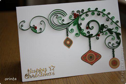 Открытка Рождество Квиллинг Рождественские открытки - 2 Бумага фото 4