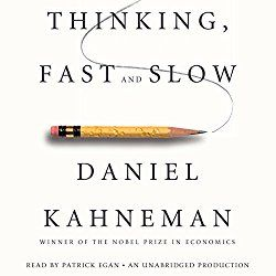 "Another must-listen from my #AudibleApp: ""Thinking, Fast and Slow"" by Daniel Kahneman, narrated by Patrick Egan."