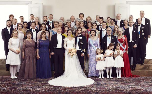 Prinz Carl Philip von Schweden, Sofia Hellqvist und die Hochzeitsgesellschaft