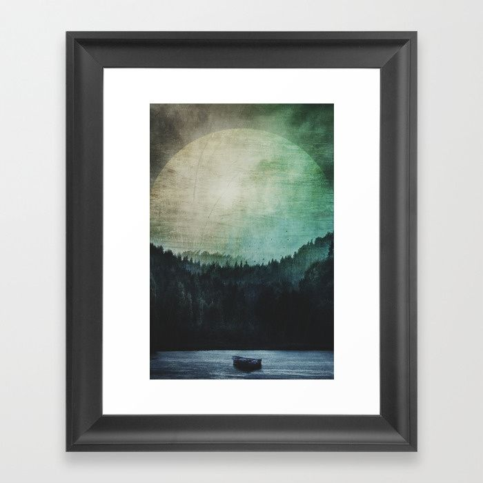 Great mystical wilderness Framed Art Print by HappyMelvin | Society6