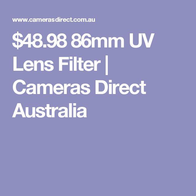 $48.98 86mm UV Lens Filter | Cameras Direct Australia