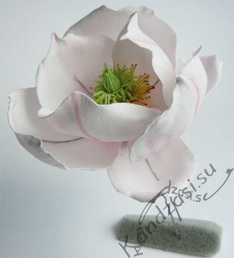 Мастер класс изготовления шпильки из цветка магнолии Cуланжа из фоамирана