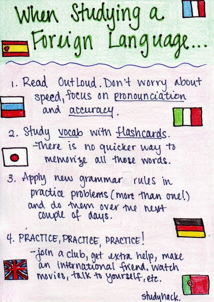 Great tips for studying a foreign language!