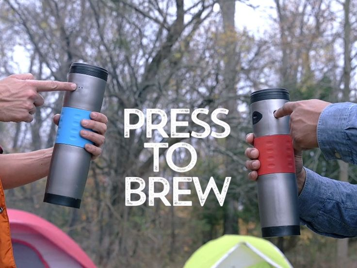 Camping Coffee Maker - mojoe™ is a travel mug-sized portable coffee maker that brews fresh coffee and tea on the go via car, wall, or rechargeable battery.