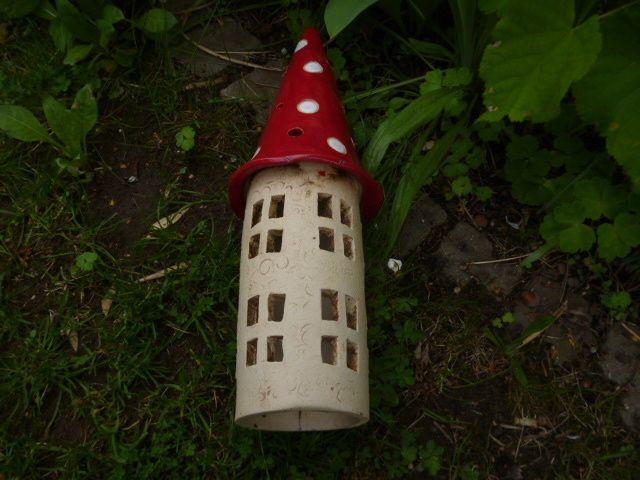 Gartendekoration - Keramik Windlicht Garten Turm - ein Designerstück von KeramikSchneider bei DaWanda