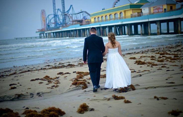 Rainy Day Galveston Beach Elopement Galveston Wedding