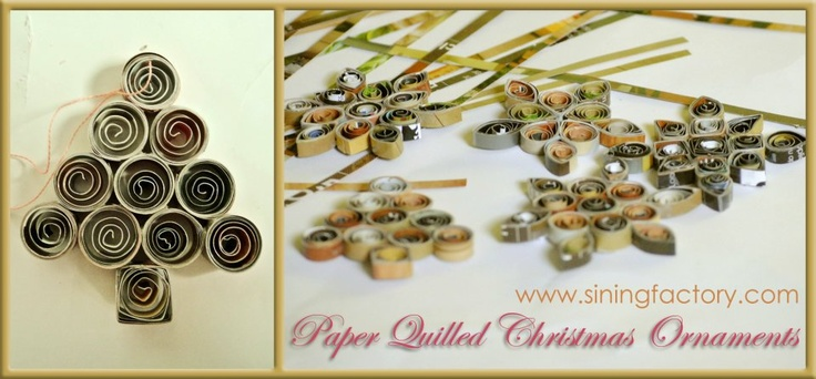 www.siningfactory...    How To Make A Recycled Christmas Decor: Paper Quilled Christmas Tree Ornaments