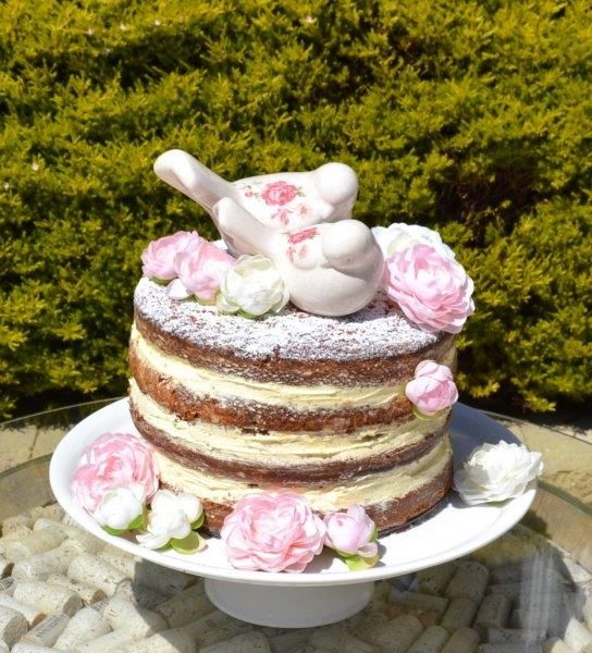 Pretty as a picture vanilla bean naked cake