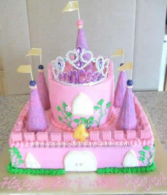 Homemade Princess Castle Cake Design: A friend asked me to make a Princess castle. I had an idea seeing so many castle cakes, and this is Princess Castle Cake Design is what I made. It was