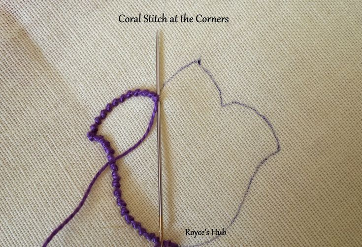 Coral stitch is also known as knotted stitch, snail trail, beaded stitch or German Knot.   Coral Stitch is used in White work Embroidery a...