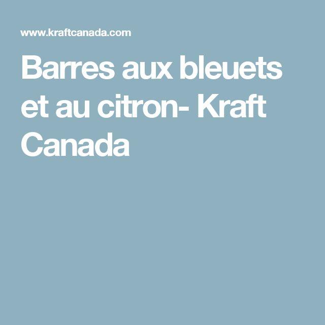 Barres aux bleuets et au citron- Kraft Canada