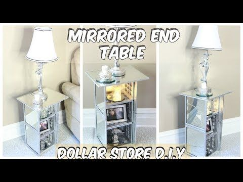 DOLLAR TREE MIRRORED END TABLE TUTORIAL - YouTube