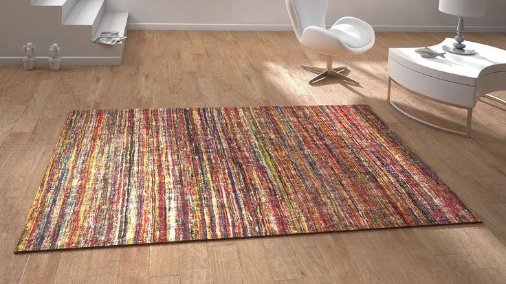 tapis contemporain sarouel multicolor saint maclou. Black Bedroom Furniture Sets. Home Design Ideas