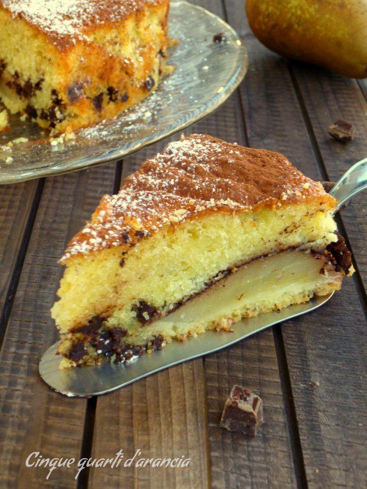 torta soffice pere e cioccolato
