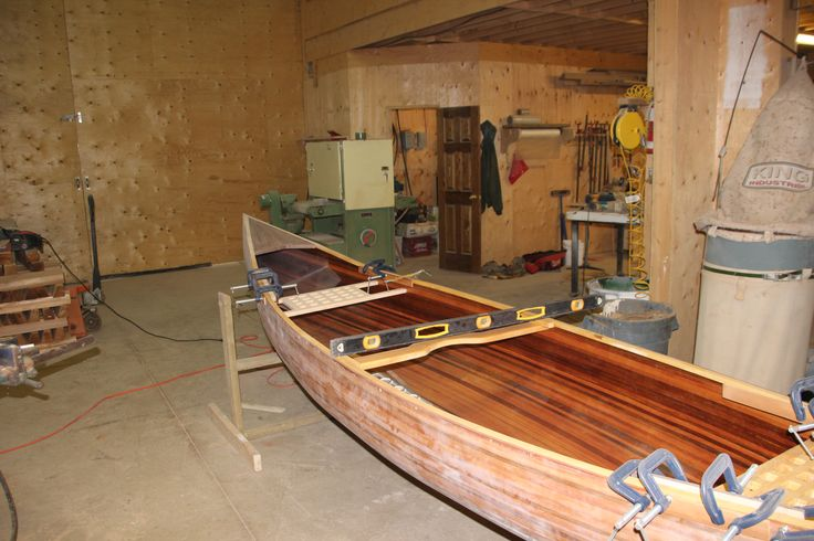 Our first cead strip canoe one week before it's completion.