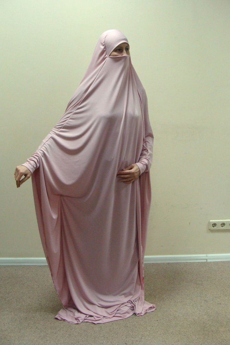 Transformer blush Khimar Maxi dress by ScarfTurbanHijab on Etsy