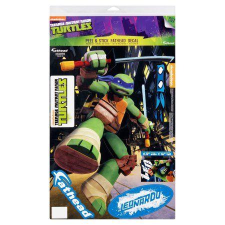 Fathead Nickelodeon Teenage Mutant Ninja Turtles Leonardo Peel & Stick Fathead Decal, Multicolor