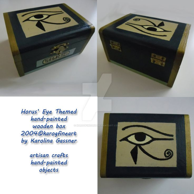 Horus' Eye Themed Treasure Box by karogfineart
