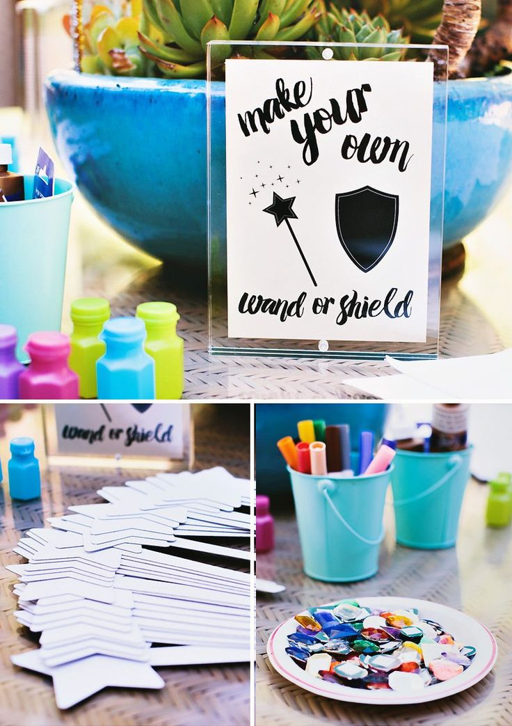 Make your own wand or sheild at a fairytale party