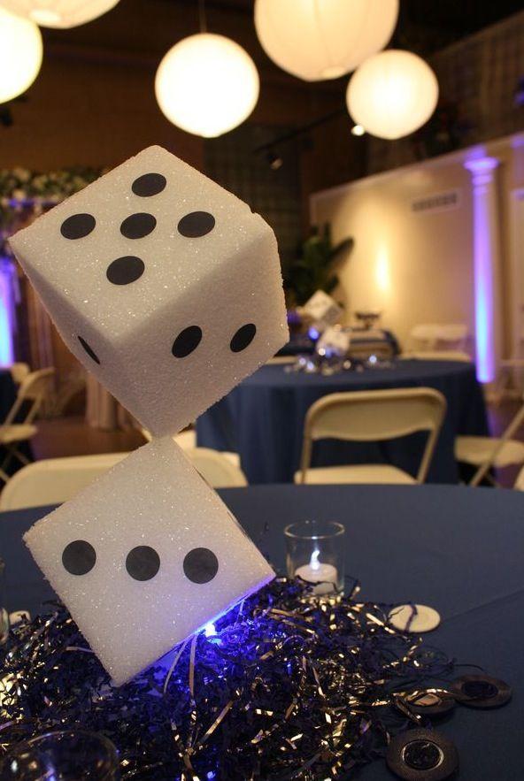 Casino Theme Centerpiece Ideas