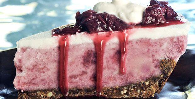 Strawberry-Rhubarb Ice Cream Pie - Vega   Food & Drink   Pinterest