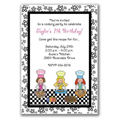 22 best cooking party images – Kids Cooking Party Invitations