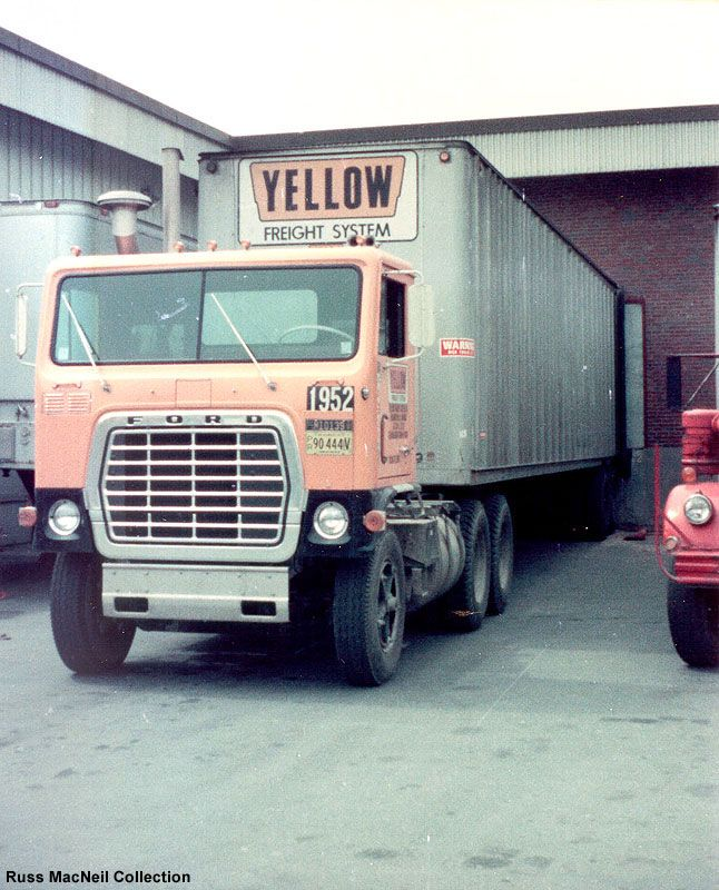 Yellow Freight - Showing the variety of Yellow tractors (cabs)