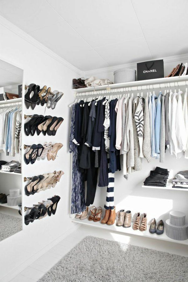 garderobe offener kleiderschrank ankleidezimmer selber bauen