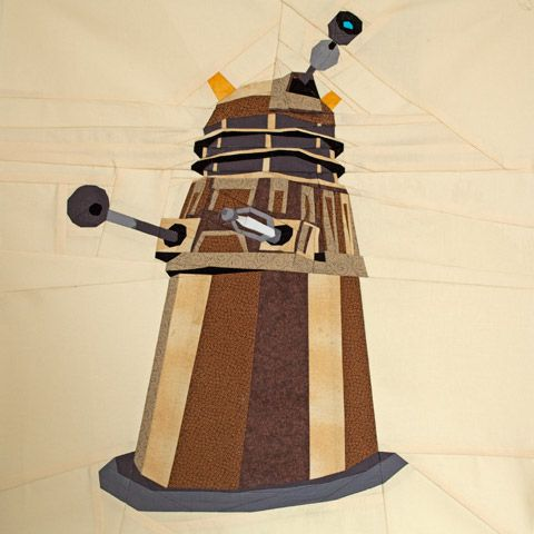 Dalek Full Body Doctor Who Quilt Pattern