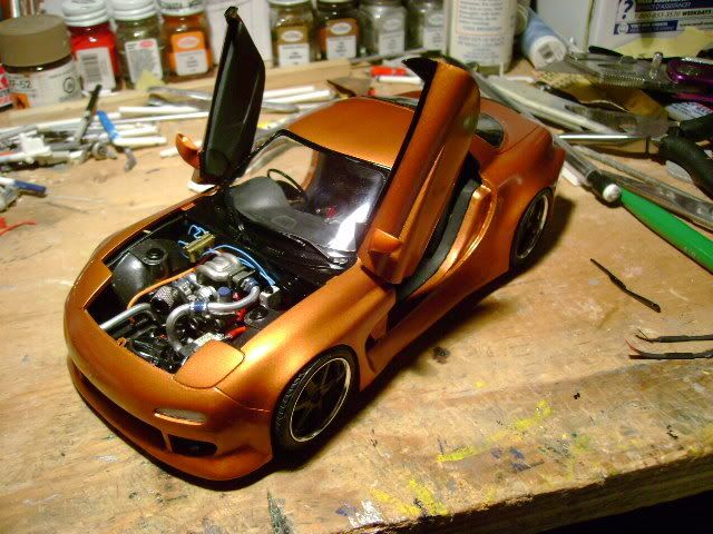 Tamiya Mazda RX7 R1 (WIP) Custom Wide Body Kit - Scale Auto Magazine - For building plastic & resin scale model cars, trucks, motorcycles, & dioramas