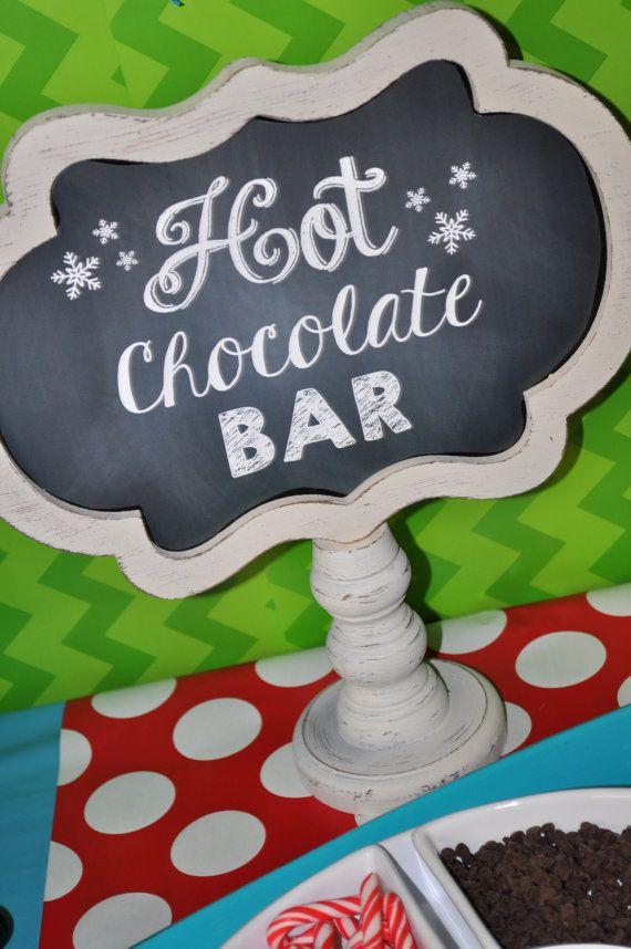 Penguin Birthday Hot Cocoa Sign - Winter Onederland Birthday Party Decorations - Boy Penguin Birthday
