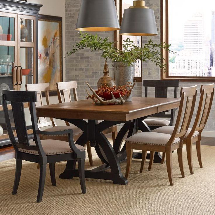 stone ridge rustic trestle table with two extension leaves by kincaid furniture at belfort furniture