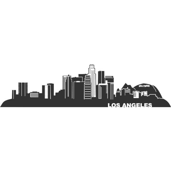 Background Los Angeles Skyline L A Liked On Polyvore Skyline Tattoo Los Angeles Skyline Los Angeles Cityscape