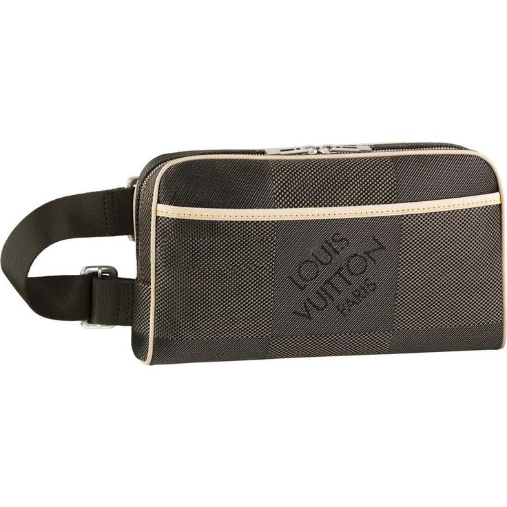 * Damier Geant canvas, textile lining and leather trimmings * Brushed aluminium pieces * Zipper closure * One inside zipped pocket, one flat pocket and four compartments for credit cards * One outside zipped pocket * Carried on the wrist or worn around the waist * Adjustable strap