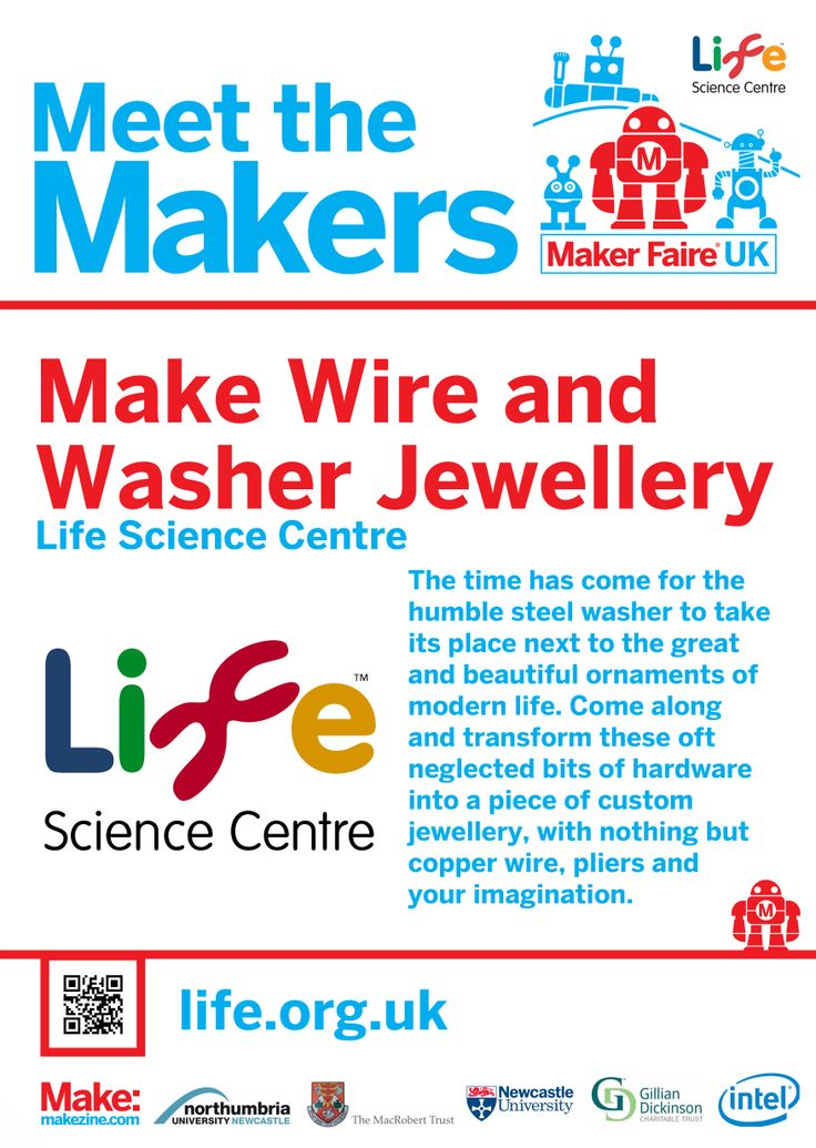 Make Wire and Washer Jewellery at Maker Faire UK 2014