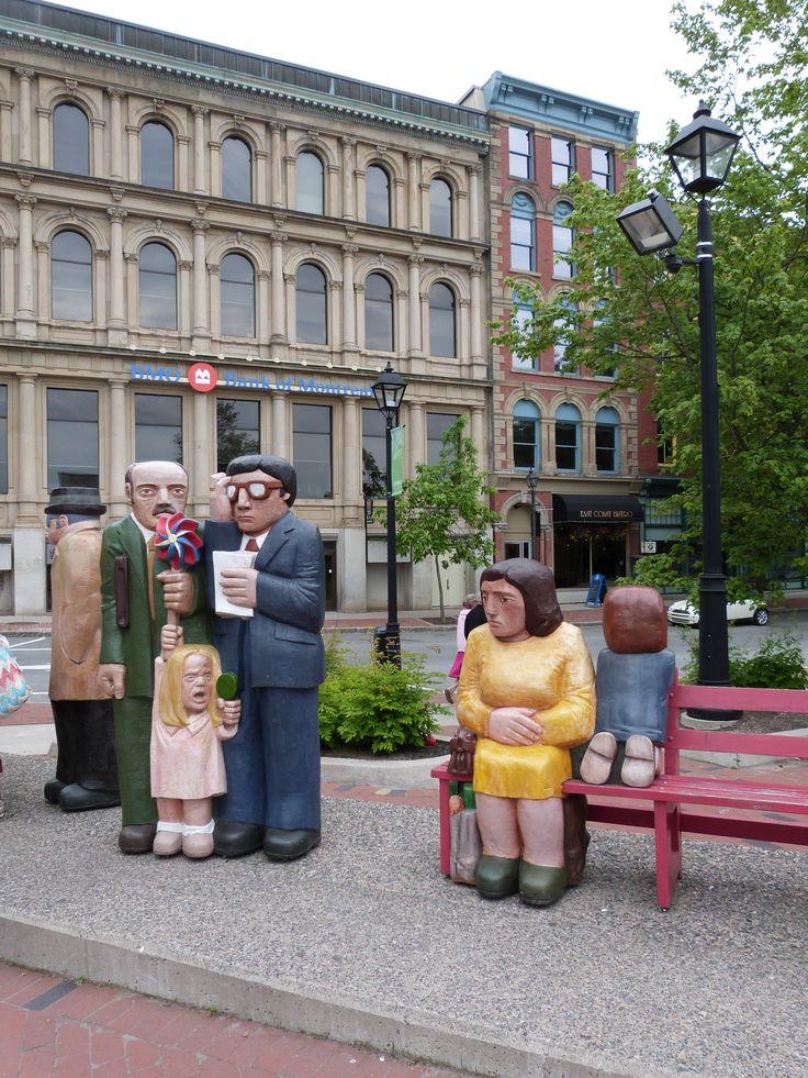 Saint John, New Brunswick. These statues are so cool. It's hard to see how many of them there are and the scale. I'd like to see up close!