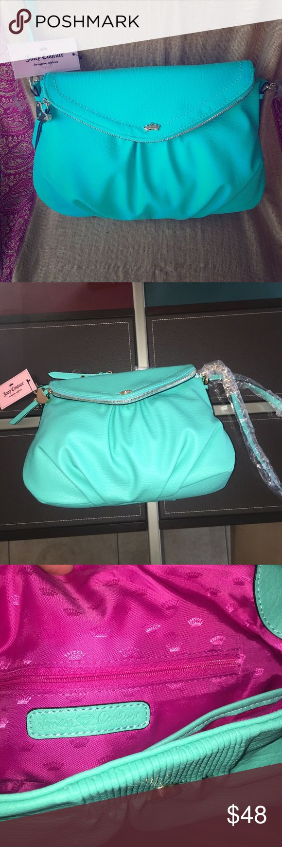 Juicy Couture Purse  Listing Gorgeous Juicy Couture Purse NWT Spectacular color, bright hot pink inside. Multiple compartments. Approximately 46 inch adjustable drop on strap.  Bundle and Save  Please feel free to ask me any questions  Reasonable offers welcomed Juicy Couture Bags