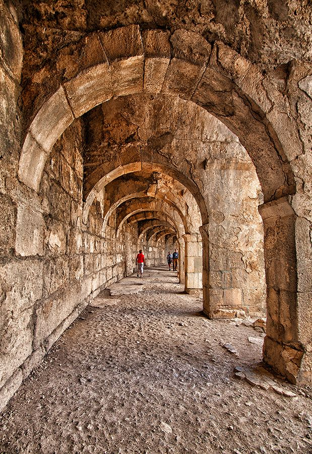 Arched walkway of the Aspendos Theatre by Rafael Uy