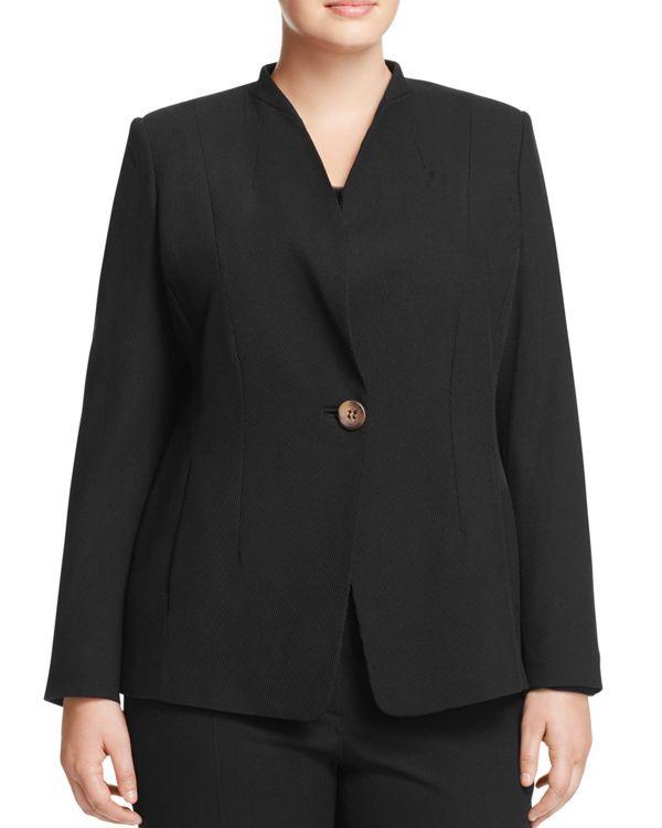 Marina Rinaldi Certezza One-Button Blazer