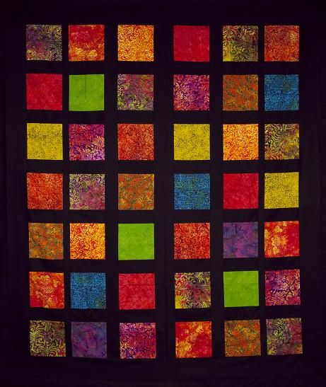 Simple Block Quilt Patterns For Beginners : Free Quilt Patterns for Beginners The Free Motion Quilting Project: April 2012 quilts ...