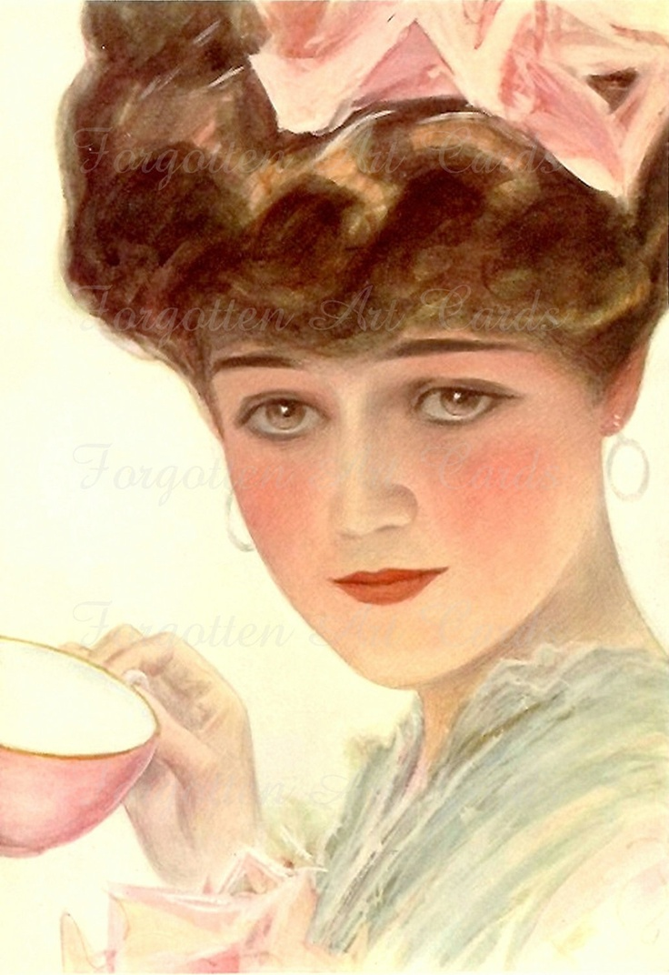 A cup of tea - Harrison Fisher | Vintage Ladies ...