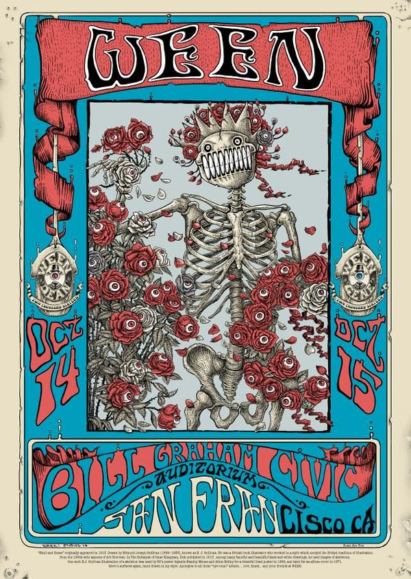Ween San Francisco Poster By Emek
