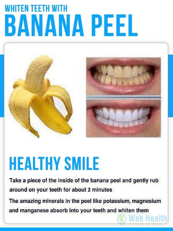 Health Tips Whiten Teen With Banana Peel Health Tips Exercise