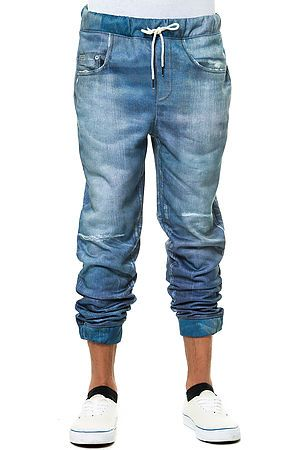 http://www.karmaloop.com/product/The-Printed-Jean-Joggers-in-Blue/475261