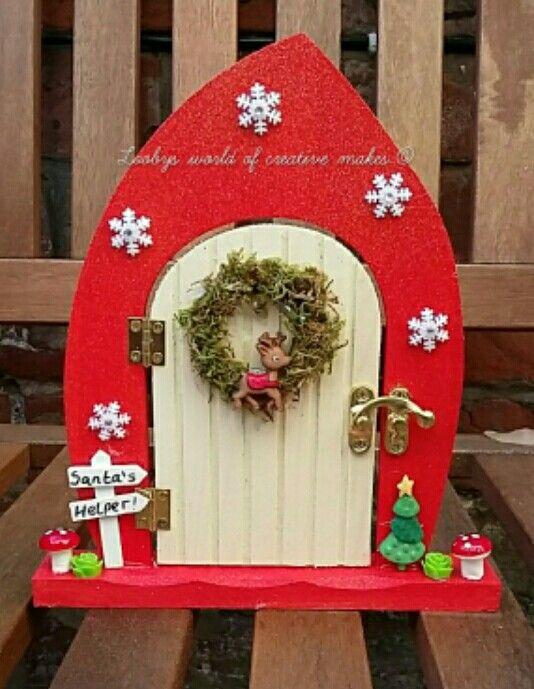 A christmas fairy door  https://m.facebook.com/loobysworld/