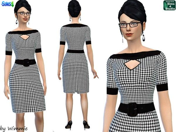 Just for your sims  Houndstooth Dress   Sims 4 Downloads. 32 best Sims4  60th images on Pinterest   The sims  Clothing and